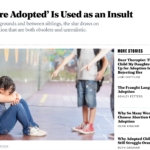 Adoption Insults/Adoption Microaggressions--In the News