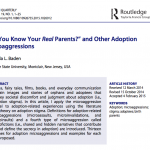 New Publication! Adoption Microaggressions